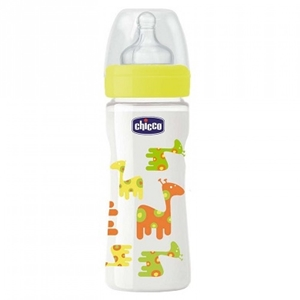 Chicco Mπιμπερό Γυάλινο Well Being Giraffe 240ml