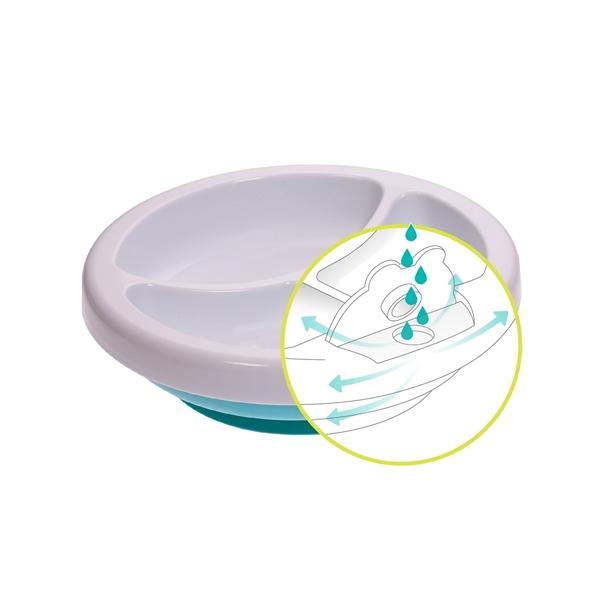 bbluv Θερμαινόμενο Πιάτο 3 Θέσεων Plato Χρώμα Aqua