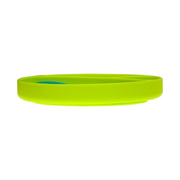 bbluv Πιάτο με κουταλάκι σιλικόνης Miam Χρώμα Lime