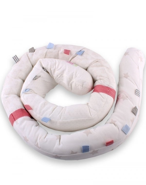 Minene Πολυχρηστικό Μαξιλάρι – Snuggly Snake Jersey Μπέζ Αστέρια
