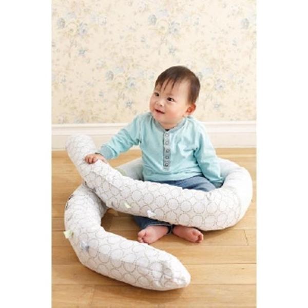 Minene Πολυχρηστικό Μαξιλάρι – Snuggly Snake Jersey Άσπρο Αστέρια