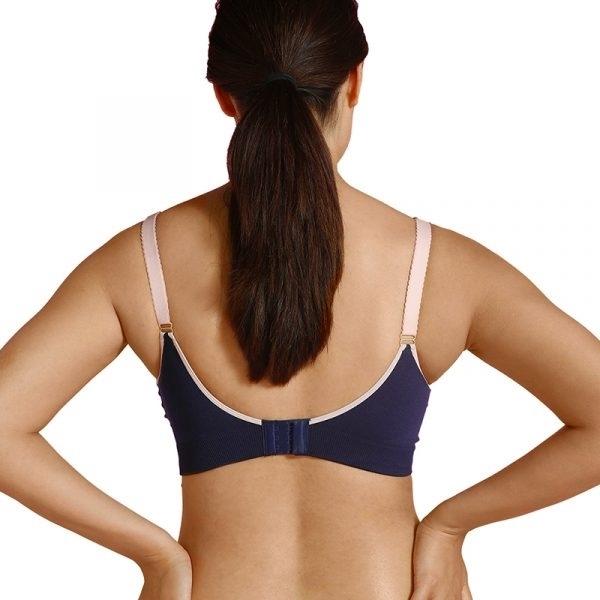Carriwell Σουτιέν Θηλασμού χωρίς Ραφές – Μπλε Ροζ Small