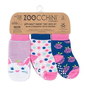 Zoocchini - Αντιολισθήτικά Καλτσάκια Grip + Easy Μπέλα το Κουνελάκι