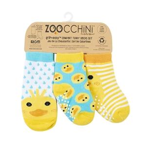 Zoocchini - Αντιολισθήτικά Καλτσάκια Grip + Easy Καλτσάκια το Παπάκι