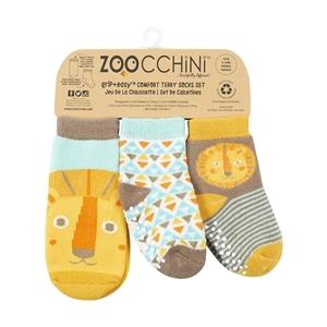Zoocchini - Αντιολισθήτικά Καλτσάκια Grip + Easy Καλτσάκια Λίο το Λιονταράκι