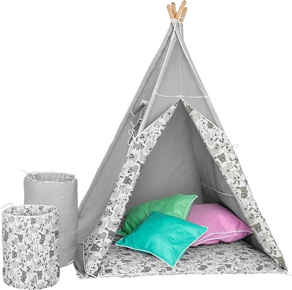 Picture of Akuku - Σκηνή Teepee Deluxe Γκρι