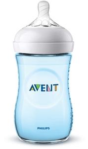 Philips Avent Natural Πλαστικό Μπιμπερό 260ml, Μπλε Χρώμα