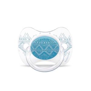 Suavinex Πιπίλα Σιλικόνης Premium Couture, 0-4M Light Blue