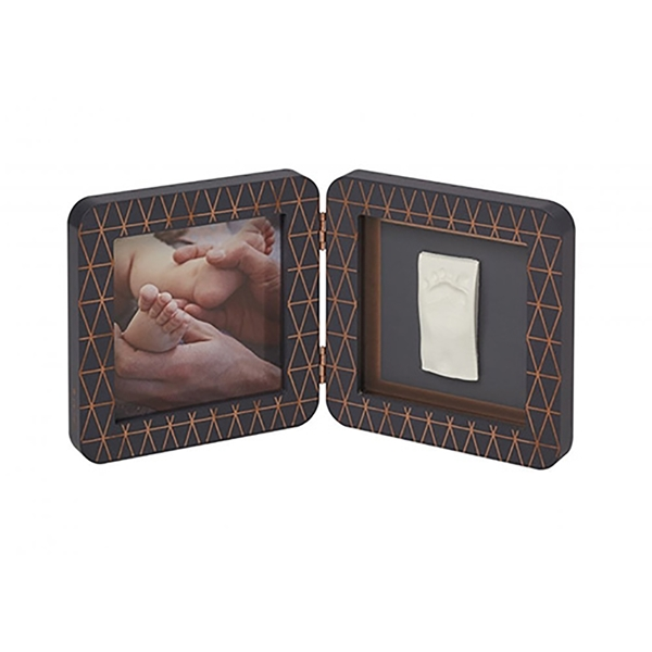 Baby Art Κορνίζα με Αποτύπωμα My Baby Touch Rounded Frame Copper - Dark Grey