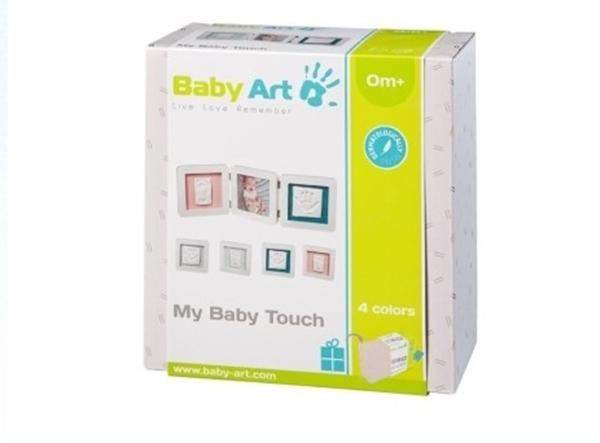 Baby Art Κορνίζα με Αποτύπωμα My Baby Touch Double Pastel