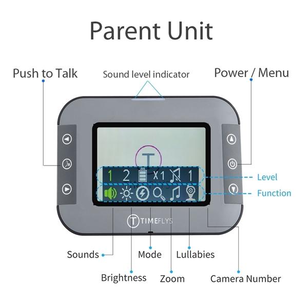 Picture of TimeFlys Ενδοεπικοινωνία με Camera Baby Monitor C240B