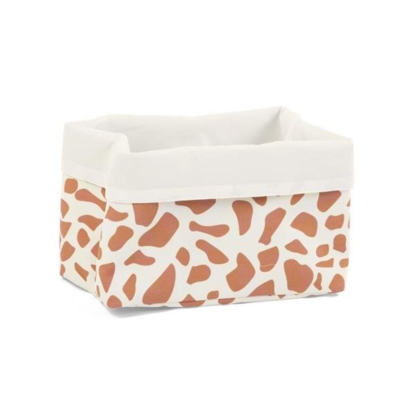 Childhome Κουτί Αποθήκευσης Καμβάς Ecru Giraffe 32x20x20cm