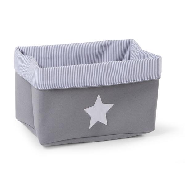 Childhome Κουτί Αποθήκευσης Καμβάς Grey Stripes