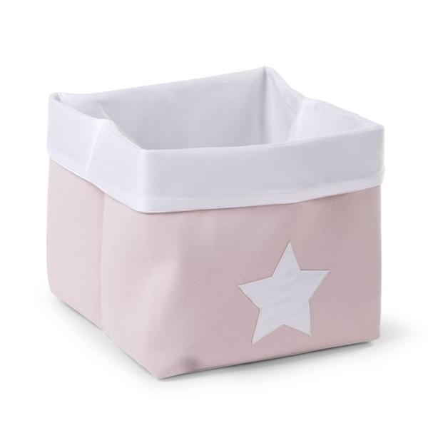 Childhome Κουτί Αποθήκευσης Καμβάς Pink White