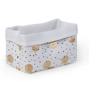 Childhome Κουτί Αποθήκευσης Καμβάς White Gold Dots