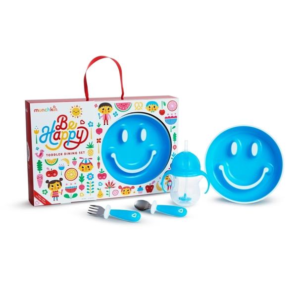 Munchkin Παιδικό Σετ Φαγητού Be Happy - Blue