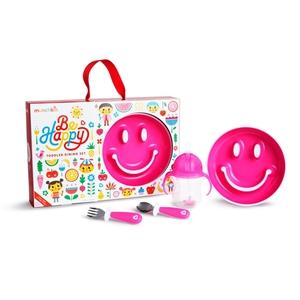 Munchkin Παιδικό Σετ Φαγητού Be Happy - Pink