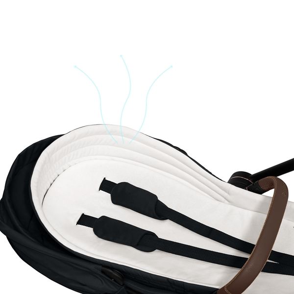 Cybex Μαλακό Πορτ Μπεμπέ Lite Cot Platinum Edition, Deep Black