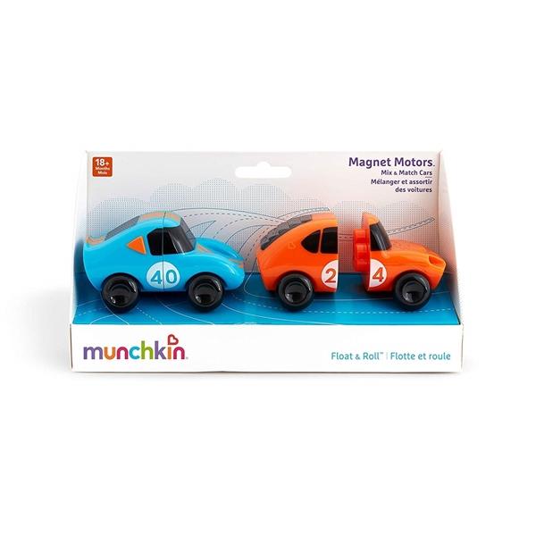 Munchkin Παιδικό Παιχνίδι Μπάνιου Magnet Motors Πορτοκαλί+Μπλέ
