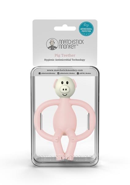 Matchstick Monkey Μασητικό Oδοντοφυΐας - Pig Light Pink
