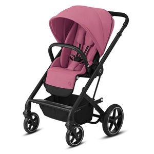 Cybex Βρεφικό Καρότσι Balios S Lux, Magnolia Pink (Black Frame)