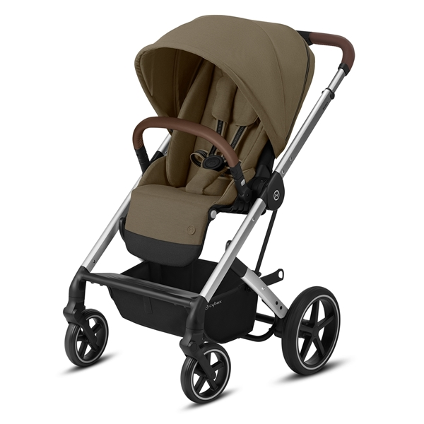 Cybex Βρεφικό Καρότσι Balios S Lux, Classic Beige (Silver Frame)