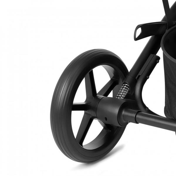 Cybex Βρεφικό Καρότσι Balios S Lux, Deep Black (Silver Frame)
