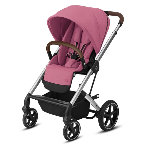 Cybex Βρεφικό Καρότσι Balios S Lux, Magnolia Pink (Silver Frame)