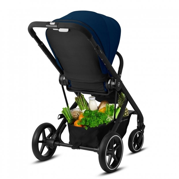 Cybex Βρεφικό Καρότσι Balios S Lux, Navy Blue (Silver Frame)