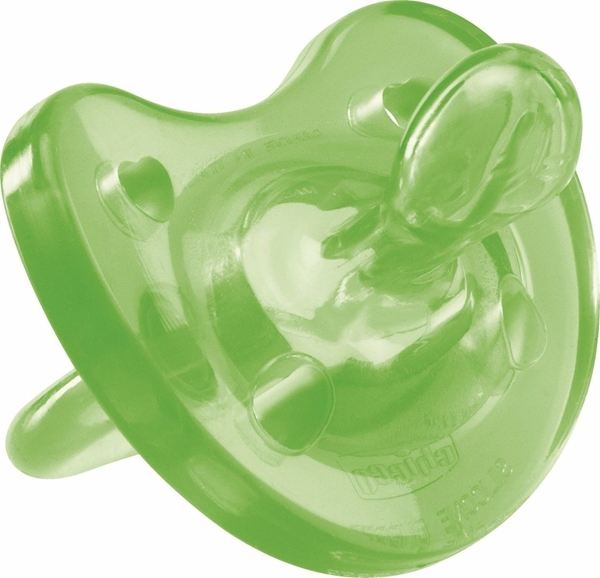 Chicco Πιπίλα Physio Soft, Όλο σιλικόνη Πράσινη, 6-16m 1τμχ