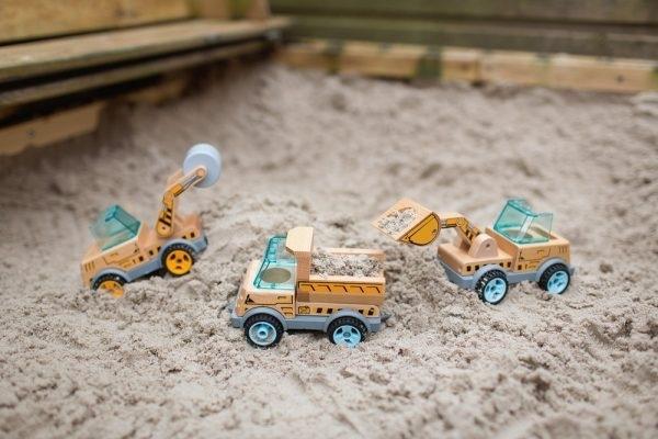 BS Toys Construction Cars – Αυτοκινητάκια Οικοδομής - Οδοστρωτήρα