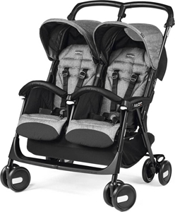 Peg Perego Καρίτσι Διδύμων Aria Twin Shopper, Cinder