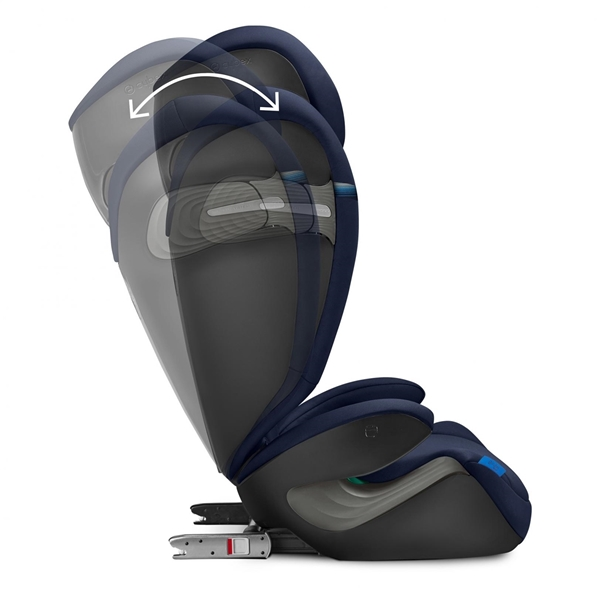 Cybex Παιδικό Κάθισμα Solution S i-Fix, 15-36 kg. Granite Black