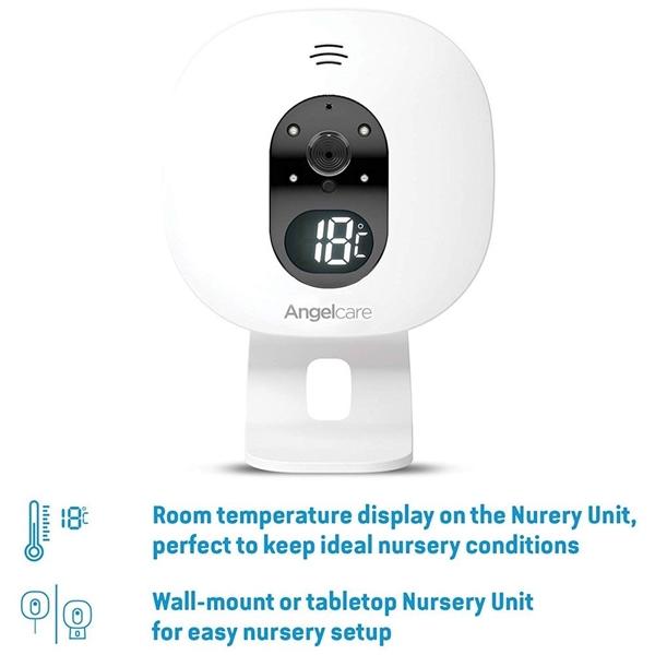 Picture of Angelcare Συσκευή Ανίχνευσης Αναπνοής & Ενδοεπικοινωνία  Με Κάμερα AC527