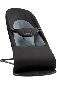 BabyBjorn Ρηλάξ Balance Soft Cotton, Black / Dark Grey