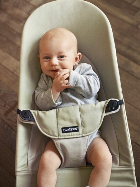 BabyBjorn Ρηλάξ Balance Soft Cotton, Khaki Beige