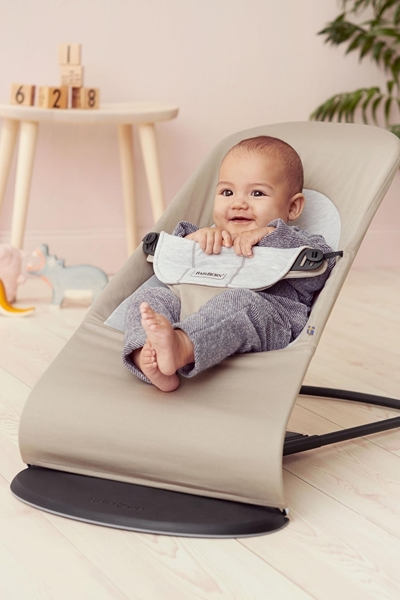 BabyBjorn Ρηλάξ Balance Soft Cotton Jersey, Beige Grey
