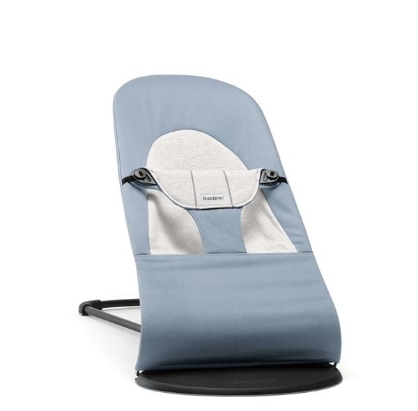 BabyBjorn Ρηλάξ Balance Soft Cotton Jersey, Blue Grey