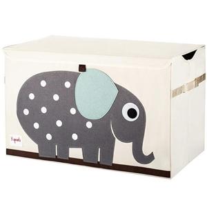 3 sprouts Καλάθι Για Παιχνίδια Με Καπάκι - Elephant