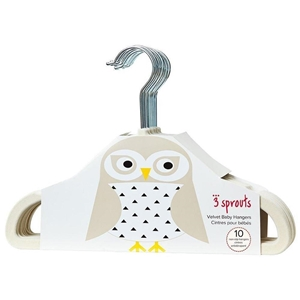 3 sprouts Παιδικές Κρεμάστρες Σετ 10 τεμ. Owl