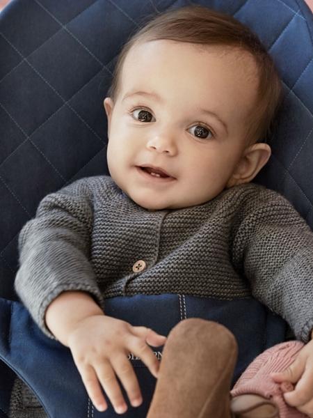BabyBjorn Ρηλάξ Balance Bliss Cotton, Midnight Blue