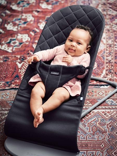 BabyBjorn Ρηλάξ Balance Bliss Cotton, Black