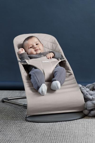 BabyBjorn Ρηλάξ Balance Bliss Cotton, Sand Grey