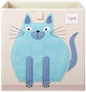 3 sprouts Καλάθι Για Παιχνίδια Τετράγωνο - Cat