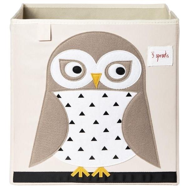 3 sprouts Καλάθι Για Παιχνίδια Τετράγωνο - Owl