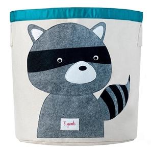 3 sprouts Καλάθι Για Παιχνίδια - Raccoon