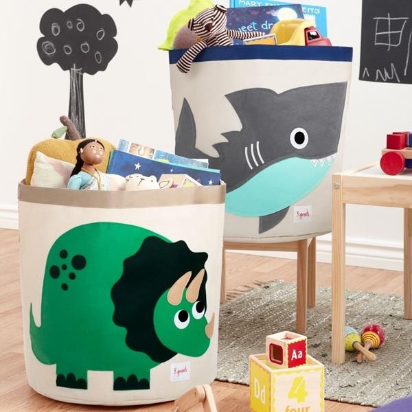 3 sprouts Καλάθι Για Παιχνίδια - Shark
