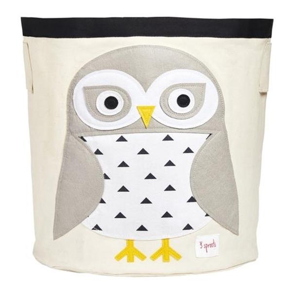 3 sprouts Καλάθι Για Παιχνίδια - Snowy Owl