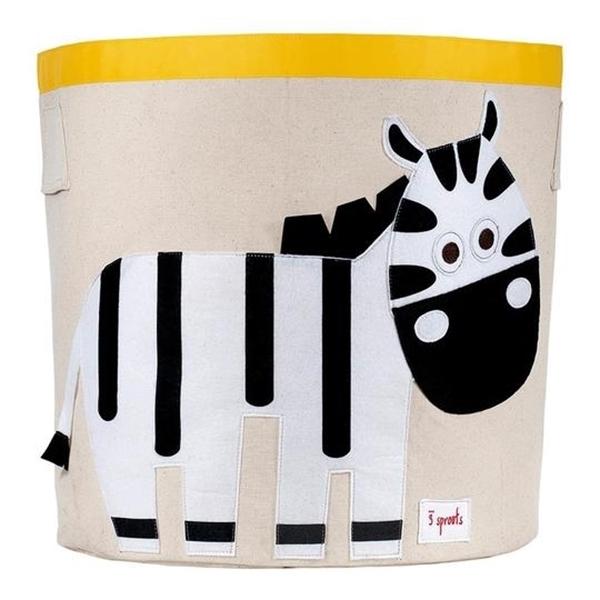 3 sprouts Καλάθι Για Παιχνίδια - Zebra