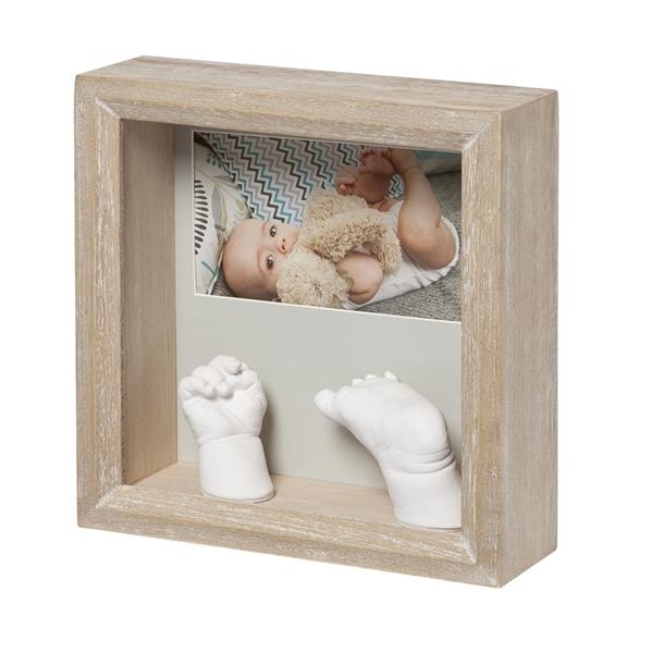 Baby Art Γλυπτό Αποτύπωμα σε Κορνίζα, Photo Sculpture Frame Natural